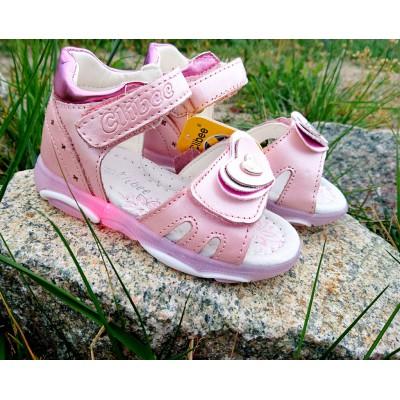 Босоножки с мигающей подошвой  для девочек Арт:  BA 5-rose