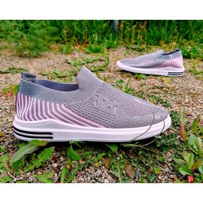 Дышащие кроссовки слипоны для девочек, 053A grey