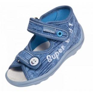 Текстильные босоножки-тапочки для мальчиков c кожаной стелькой Karo jeans