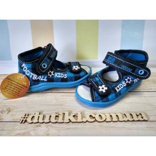 Текстильные босоножки-тапочки для мальчиков Karo kratka blue