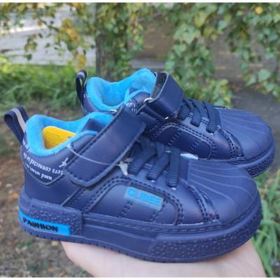 Утеплені кросівки, хайтопи для хлопчиків, 902L d.blue