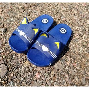 Шлепанцы для мальчиков и девочек Арт: Kitten blue