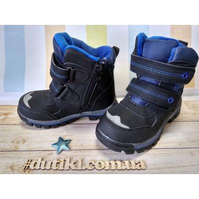 Термо ботинки демисезонные, M1821 black-blue