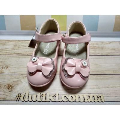 Туфли для девочек нарядные  M31 pink