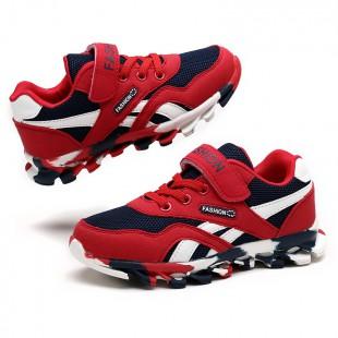 Кроссовки на модной рельефной подошве Арт: Formula-1 red