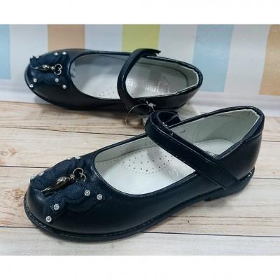 Туфли для девочек  cиние -школьная обувь  9677-blue