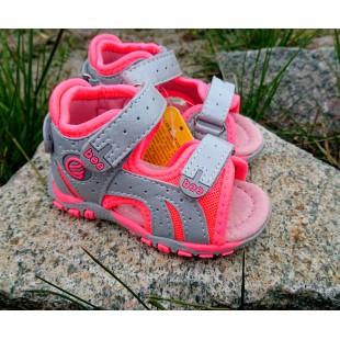 """Супер -удобные босоножки """"Первые шаги"""" для девочек Арт :6 grey-corall"""