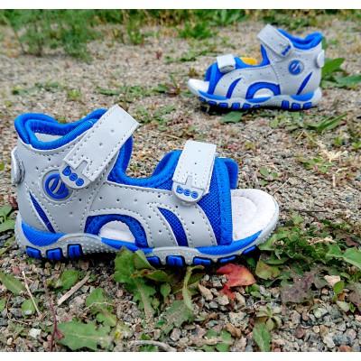 """Босоножки """"Первые шаги"""" для мальчиков Арт :6 grey-blue"""