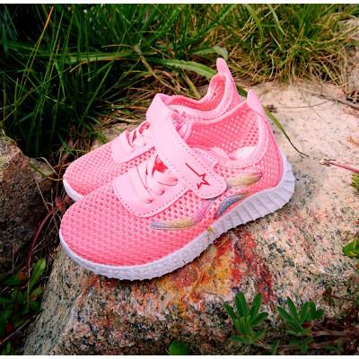 Легкие летние дышащие кроссовки для девочек Арт: 6173