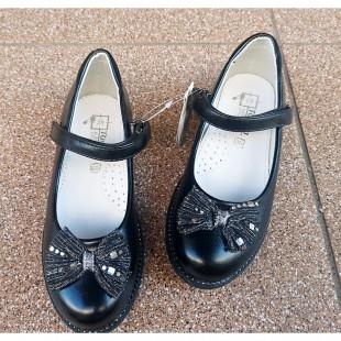 Школьные черные туфли для девочек Арт: 7677 Т - последняя пара 33рр!