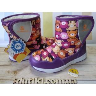 Зимові чоботи дутики для дівчаток Арт: NC401