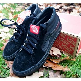 Кроссовки, кеды черные подростковые Vans Арт: 2-201B