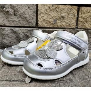 Серебристые туфли-сандалии для девочек Арт: P29 silver