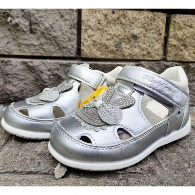 Серебристые туфли-сандалии P29 silver