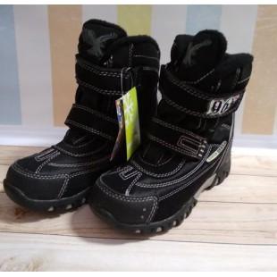 Зимние термо ботинки для мальчиков на флисовом подкладе АРТ: 6367black
