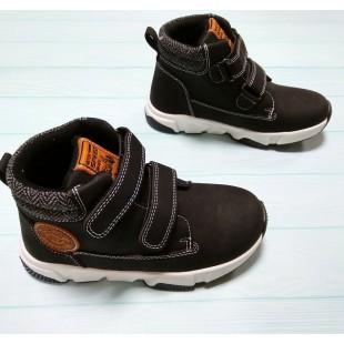 Ботинки для мальчиков на липучках Арт: 443Q black