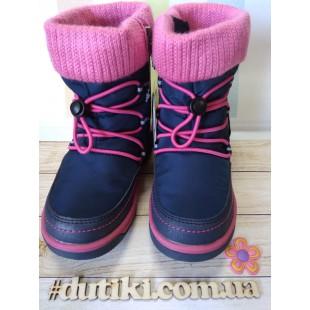 Зимние термо ботинки для девочек мембрана+ штом+термостелька Арт: R191-1206N