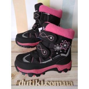Зимние термо ботинки для девочек мембрана+ штом+термо стелька Арт: R20-199