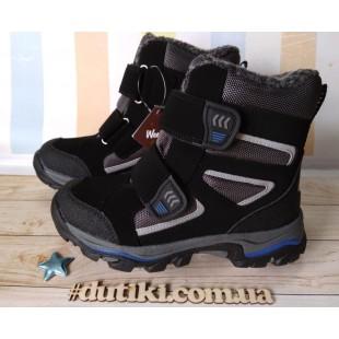 Зимние термо ботинки для мальчиков-школьников Арт: R8250 BK