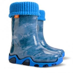 """Детские резиновые сапоги с утеплителем STORMER LUX PRINT aс """"Водяной"""""""