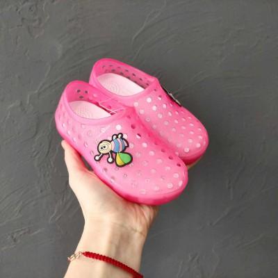 Крокси силіконові з мигалками Flamingo, YS-6070