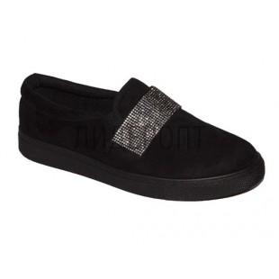 Стильные слипоны женские/подростковые Slipers Арт:D37 black