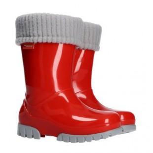 Дитячі гумові чоботи з утеплювачем TWISTER LUX 0407B red