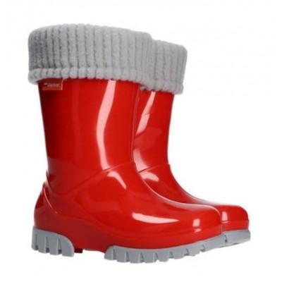 Гумові чоботи з утеплювачем Demar, 0407B red