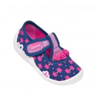 Текстильные сандалии-тапочки для девочек Viola