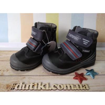 Ботинки для мальчиков, Фламинго XY-1012 black