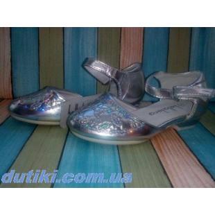 Праздничные туфли для девочек Арт: 315A_серебро- последняя пара!