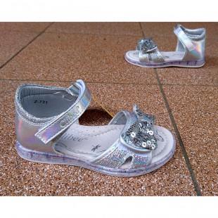 Босоножки для девочек Арт: Z137 silver