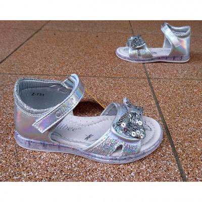 Босоножки для девочек серебристые, Z137 silver