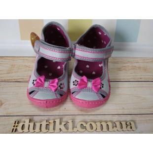 Текстильные сандалии-тапочки для девочек Zulka