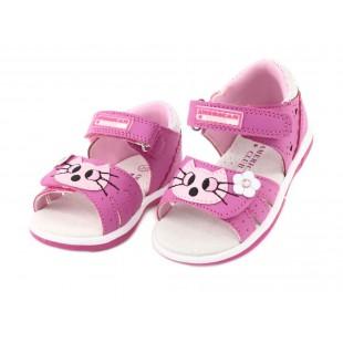 Босоножки Кошечки для девочек Арт: 0222 fuxia