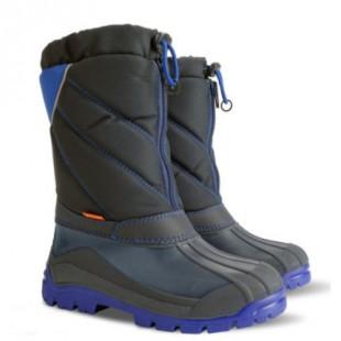 Зимние сапоги, утепленные шерстью Арт: NIKO синий