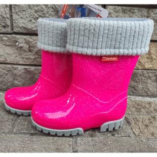 Дитячі гумові чоботи з утеплювачем  TWISTER LUX 0406G rose